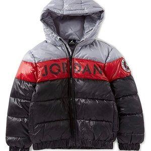 NIKE Air Jordan Colorblock Stripe Big Boys' Puffer